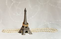 Just married in Paris Stock Photo