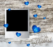 Just married photo frame 2 Royalty Free Stock Images