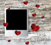 Just married photo frame Royalty Free Stock Photos