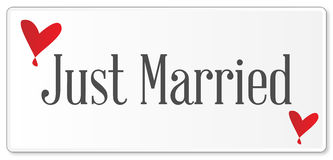 Just Married Plaque Royalty Free Stock Images