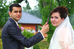 Just married portrait Royalty Free Stock Photography