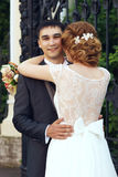 Just married romantic couple Stock Image