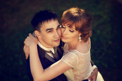 Just married romantic couple Stock Photography