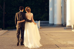 Just married romantic couple Stock Photos