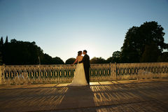Just married romantic couple Royalty Free Stock Photos