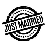 Just Married rubber stamp Stock Image