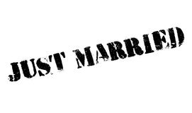 Just Married rubber stamp Royalty Free Stock Photography