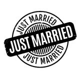 Just Married rubber stamp Royalty Free Stock Images