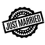 Just Married rubber stamp Royalty Free Stock Photo