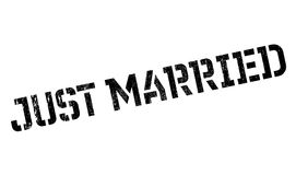 Just Married rubber stamp Royalty Free Stock Image