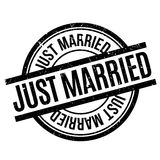 Just Married rubber stamp Stock Photos