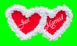 Just Married sign Royalty Free Stock Images