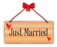 Just Married Sign Royalty Free Stock Photos