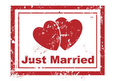 Just married stamp Royalty Free Stock Photos
