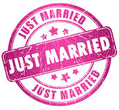 Just married stamp Royalty Free Stock Image