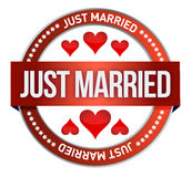 Just Married stamp print Stock Photo