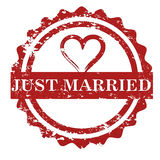 Just married stamp vector Stock Images