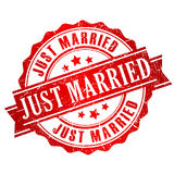 Just married vector stamp Royalty Free Stock Image