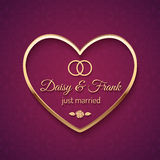 Just Married Wedding Sign Stock Photo