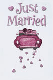 Just Married. Just married on white art paper Stock Photos