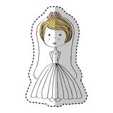 Just married woman drawing Stock Images