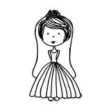 Just married woman drawing Royalty Free Stock Photo