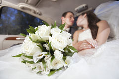 Just married young couple Stock Images