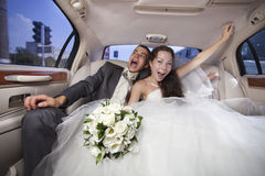 Just married young couple Stock Photos