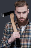 Just me and my axe. Stock Image