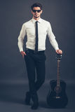 Just me and my guitar. Royalty Free Stock Photo