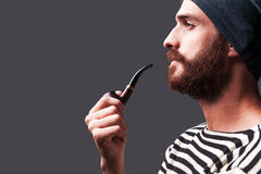Just me and my pipe. Royalty Free Stock Images