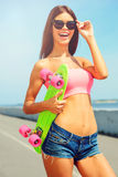 Just me and my skateboard! Stock Photos