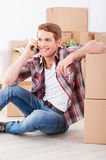 Just moved in. Royalty Free Stock Photography