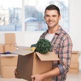 Just moved in a new apartment. Royalty Free Stock Images