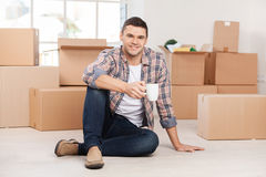Just moved in a new house. Royalty Free Stock Photos