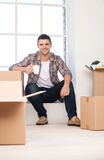 Just moved in a new house. Royalty Free Stock Photography