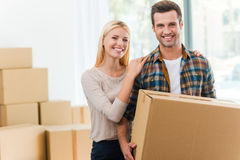Just moved in. Stock Photo