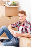 Just moved to the new apartment. Royalty Free Stock Image