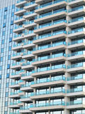 Just new builded luxury apartament house, windows and balcony Royalty Free Stock Photography