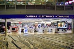 Just nu hade flygplatsen tre fungerande terminaler Arkivbilder
