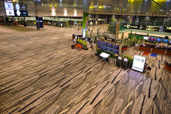 Just nu hade flygplatsen tre fungerande terminaler Arkivbild