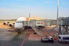 Just nu hade flygplatsen tre fungerande terminaler Royaltyfria Foton