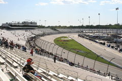 Just one more lap... A few fans linger after a great day of racing at Richmond International Raceway Royalty Free Stock Photography