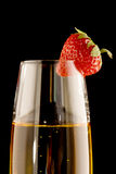 Just one strawberry Stock Photography