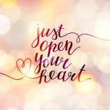 Just open your heart Royalty Free Stock Photography