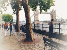 Just an ordinary day at Thames embankment royalty free stock photography