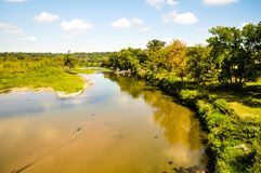 Just Outdoors At The Turkey. The Turkey river from a bridge stock photos