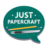 Just Papercraft Poster Stock Images