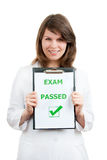 Just Passed. Happy physician student just passed difficult examination Stock Photo