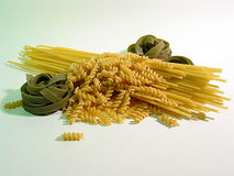 Just pasta!. A couple of spaghettis and pasta Royalty Free Stock Photos